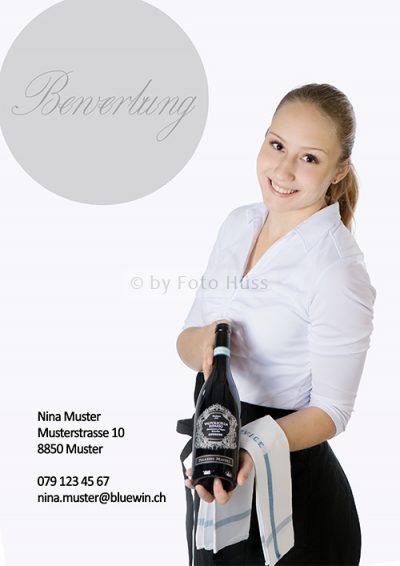 Foto Hüss - Bewerbungscover - Bewerbungsdeckblatt - Serviceangestellte