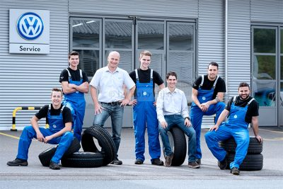 Foto Hüss - Business - Firmen - Reportagen - Team - VW - Autogarage